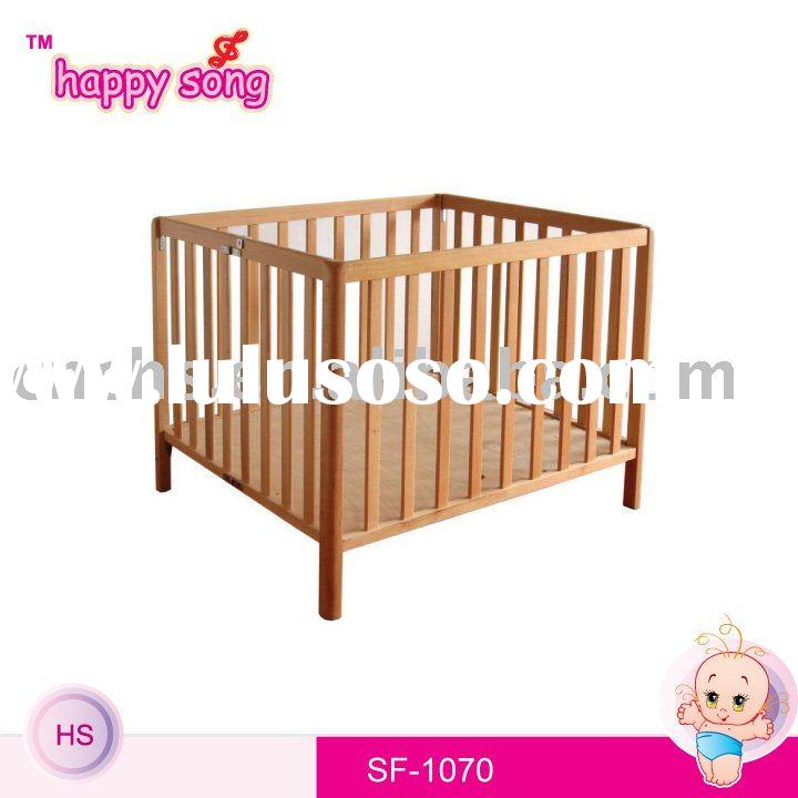 Wooden baby cot bedding set SF1070