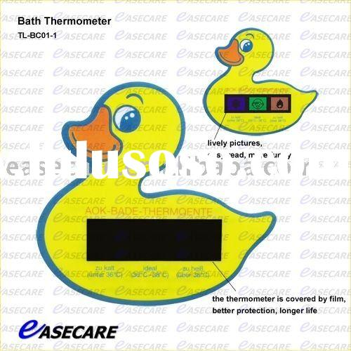 baby safety product with bath thermometer
