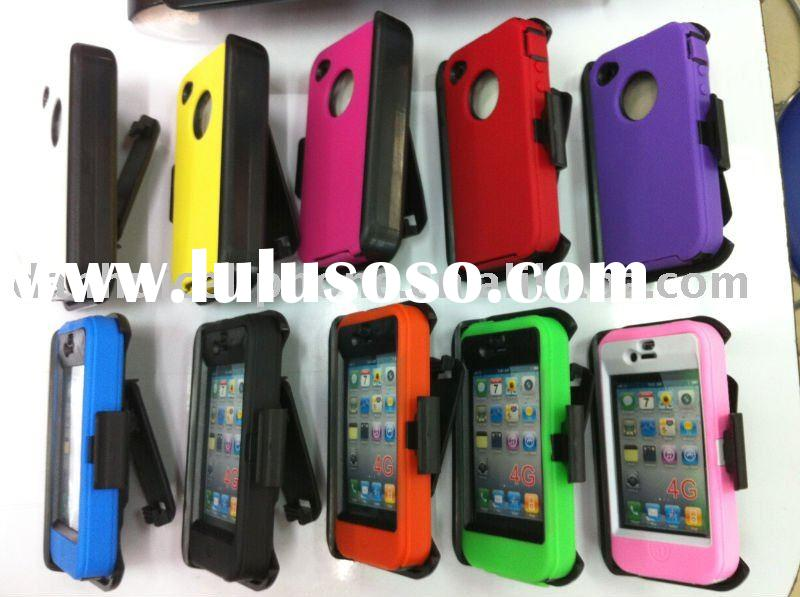 cell phone case cover for iphone 4G   robot case with holster
