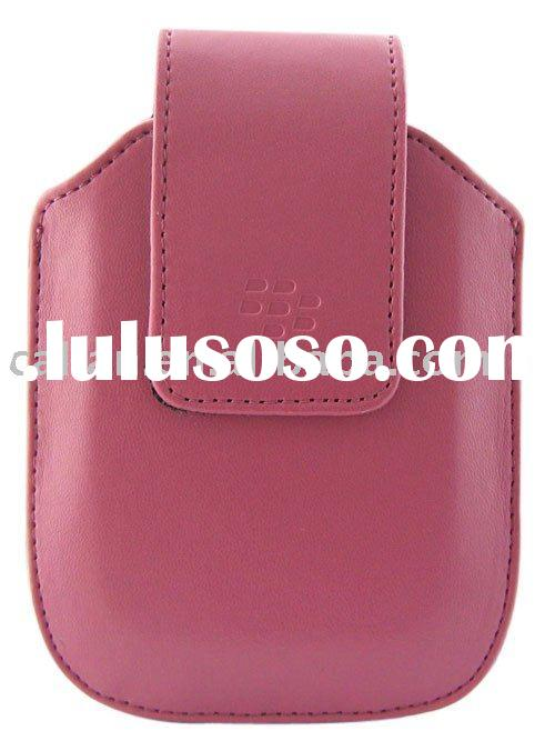 Blackberry Bold 9000 Leather case/ pouch/ Mobile phone parts(light pink)