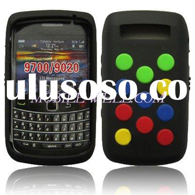 Cell Phone Silicon Case New For Black Berry 9700 & 9020 Color Black Mobile Phone Case