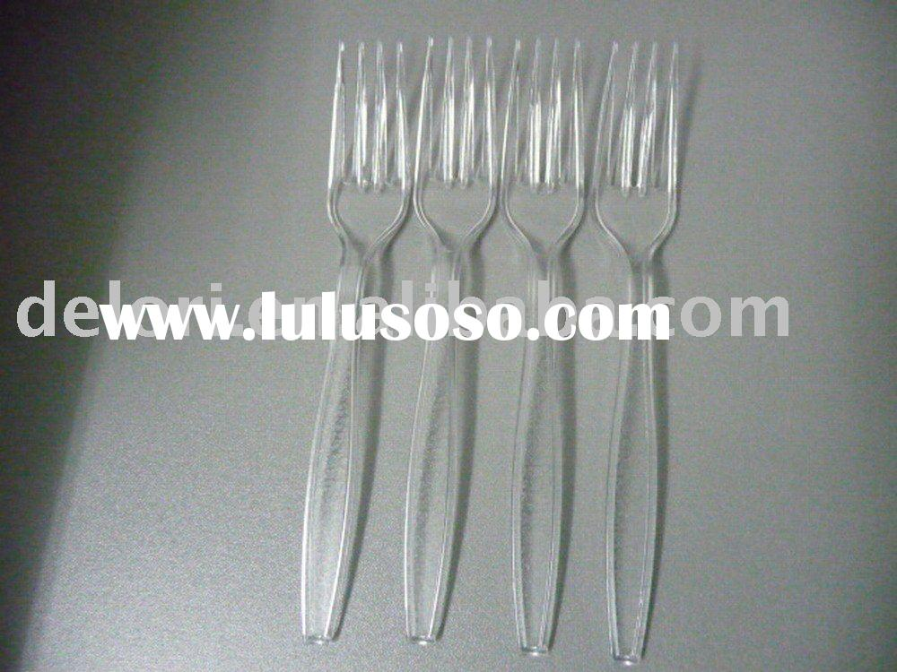 Disposable Plastic Transparent Fork(FDA Certification)