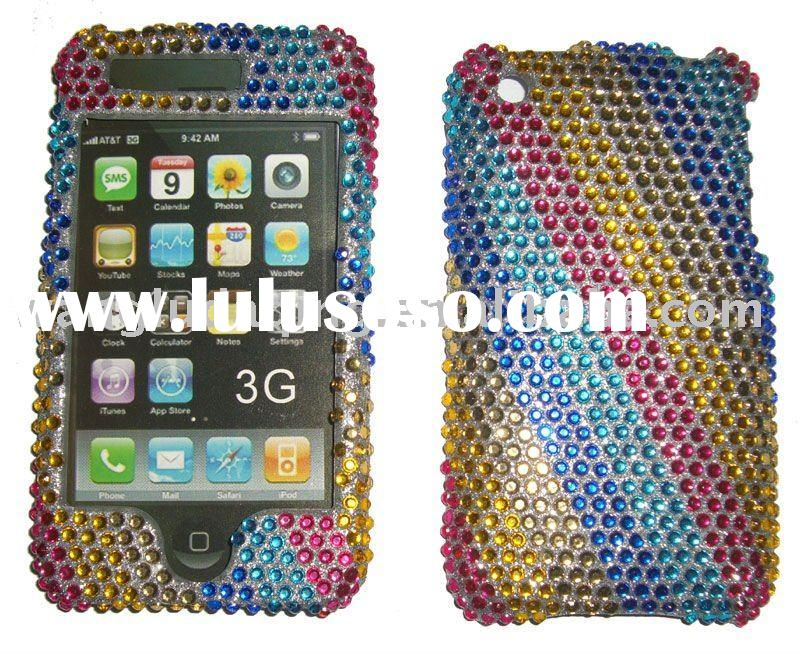 Mobile Phone Case:Mobile Phone Diamond Case/Bling Diamond Crystal Case For HTC HERO G3