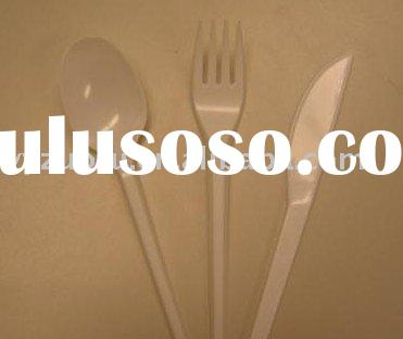Plastic fork spoon plates knifes cups