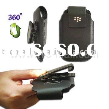 Practical Leather Holster Case with Belt Clip for BlackBerry Torch 9800