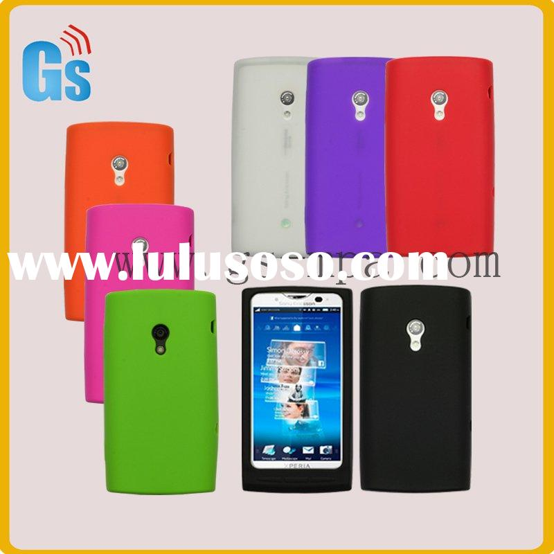 Silicone mobile phone case for sony ericsson Xperia X10