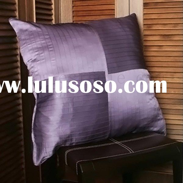 Silk Pleat Pillow Covers