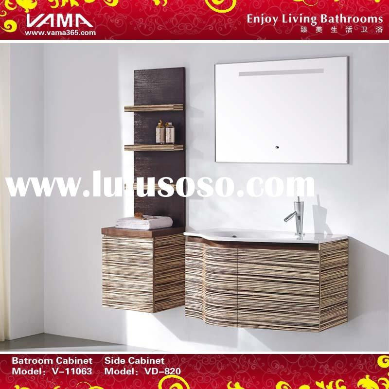 Teak wood bathroom cabinets