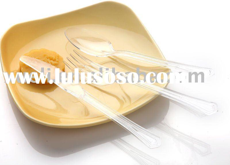 disposable plastic spoon knife and fork