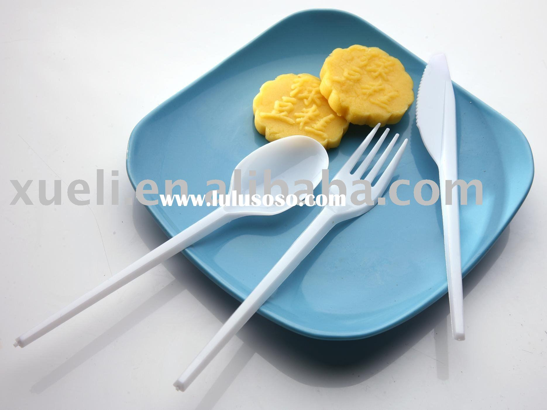 disposable plastic spoon knife and fork 7#
