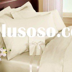 hotel 300tc Solid Cream Egyptian Cotton Sheet Set