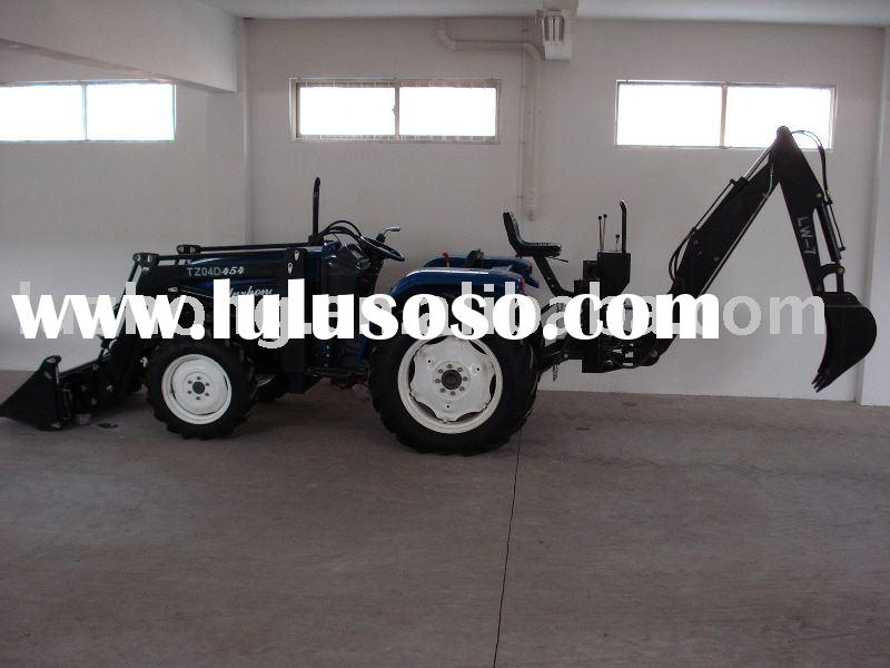 luzhong 454 tractor with front end loader,backhoe