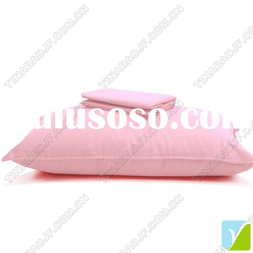 neck pillow, polyester pillow, pink color (Model No. TBC0056)