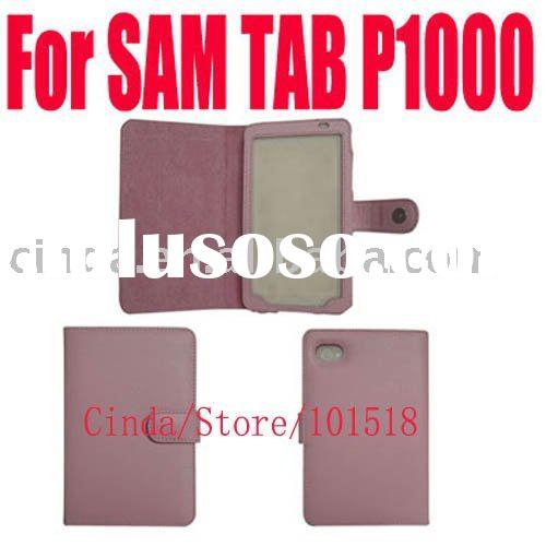pink leather case skin for Samsung Galaxy Tab P1000 new
