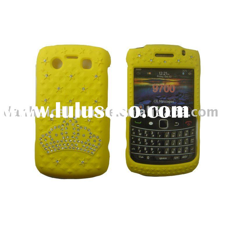 rhinestone mobile phone cases  for black berry 9700