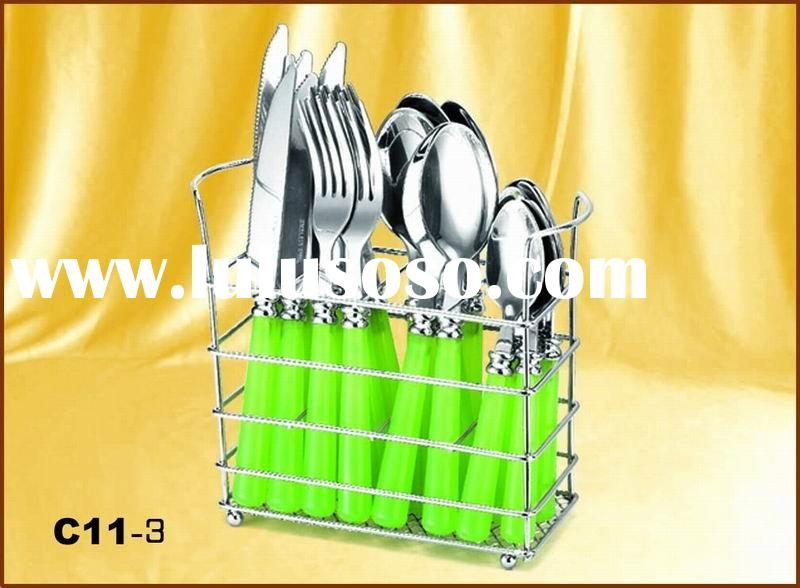 stainless steel spoon and forks set