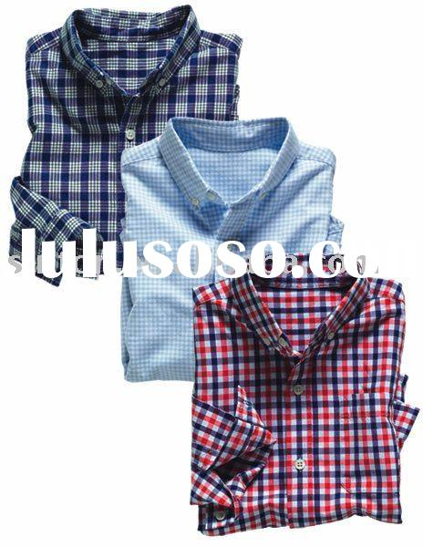 100% Cotton Kid's Funny Check Shirts