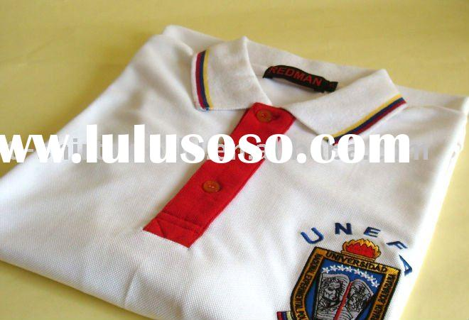 100% cotton embroidered polo shirts for men