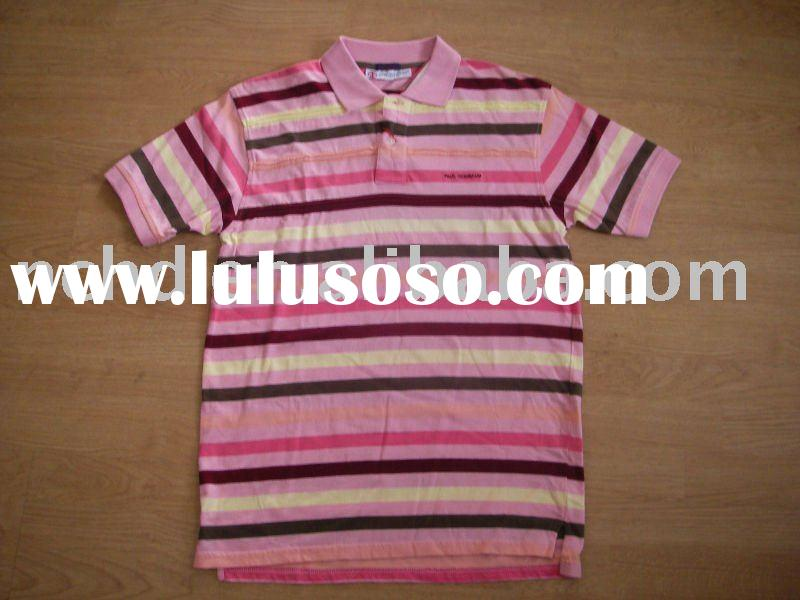 100% cotton men multi color polo t-shirt