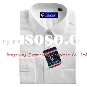100%cotton white woven custom made mens dress shirts