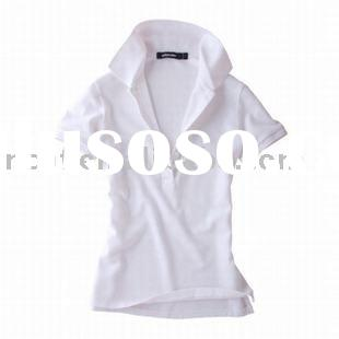2010 new design casual polo shirt for lady