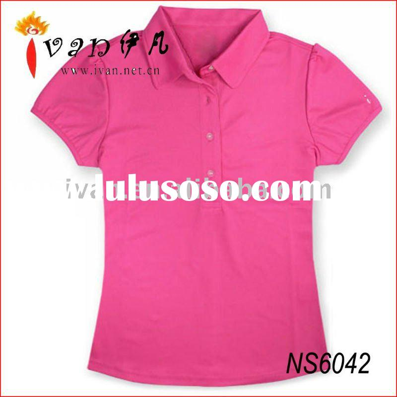 2011 New Design Cheap Ladies Hot Pink t shirts