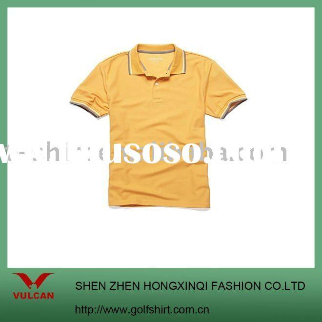 2011 Newest polo shirt with simple design and lacoste material