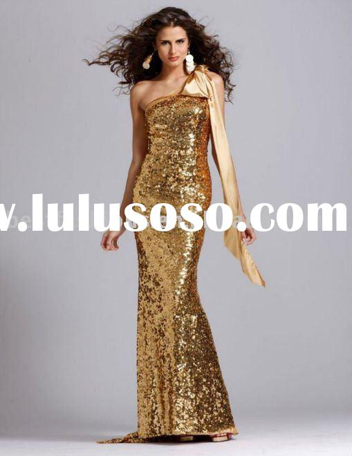 2011 sequined evening dress 2830