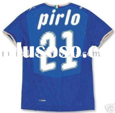 21 Pirlo Italy Home Blue Soccer Jersey Euro 2008 New Xl
