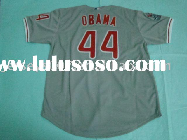 Authentic Philadelphia Phillies Obama #44 gray jersey. baseball Jersey ,accept paypal.do drop ship
