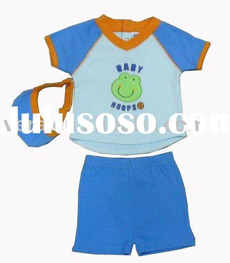 Baby sets - 1 T-shirt/1 shorts/1 cap in cotton jersey