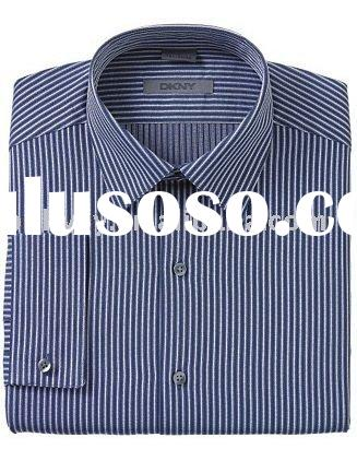 Blue Pearl Navy  Stripe Fitted  Dress  Shirts