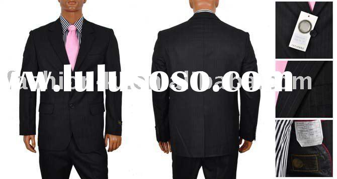 Brand New Men's Fashion Business Suits Wool Black