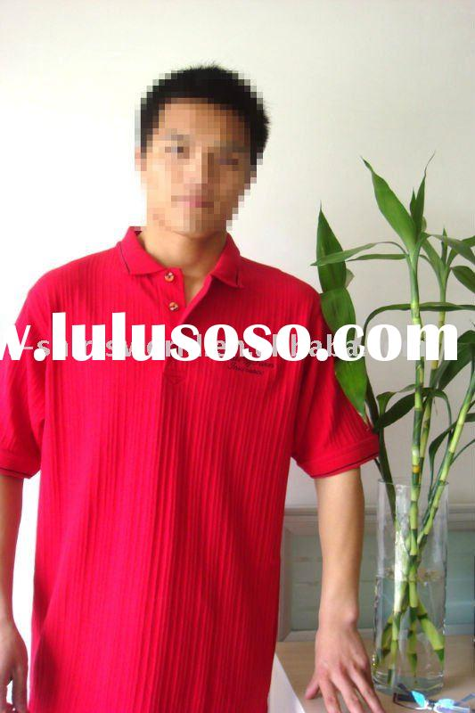 European size red cotton polo shirt