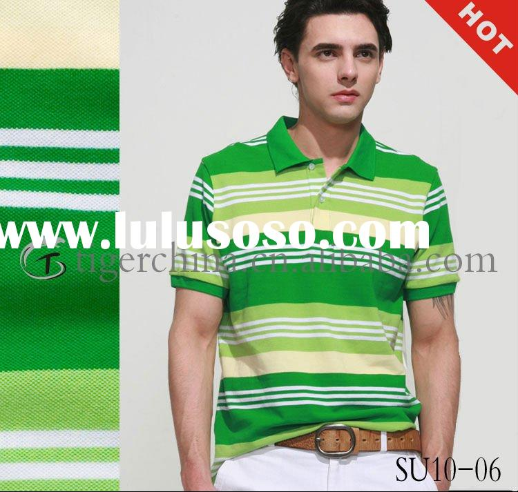 Hot Fashion 100% Cotton Polo Shirt - 2010 Summer Latest Design