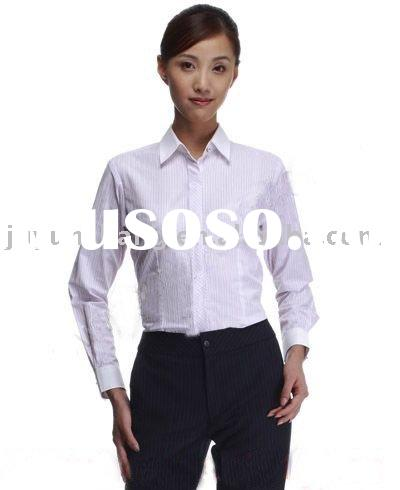 LADIES WHITE DRESS SHIRT