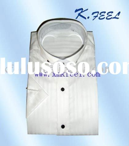 Men's Casual Band Collar Dress Shirts