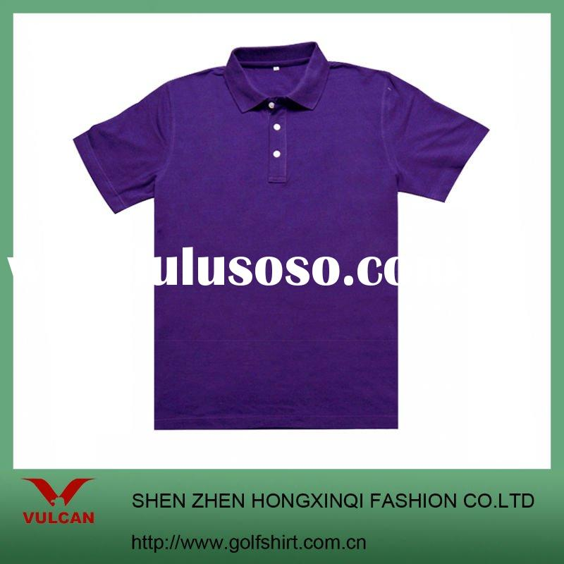 Men's Fahion Purple Golf  POLO shirt