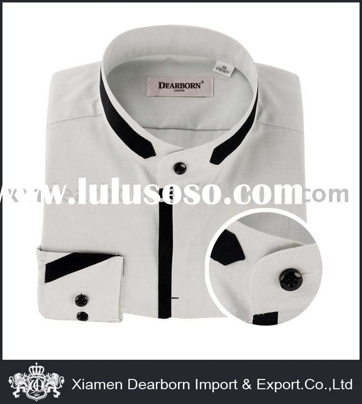 Men's Round Collar Dress Shirt