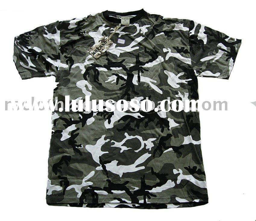 Men's short sleeve camouflage t-shirt
