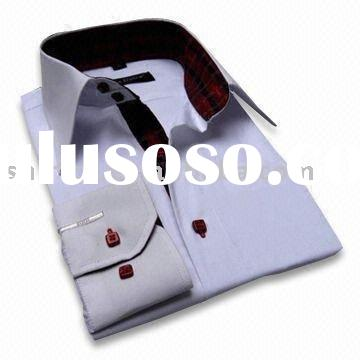 Mens Dress  Shirt (Contrast Collar)
