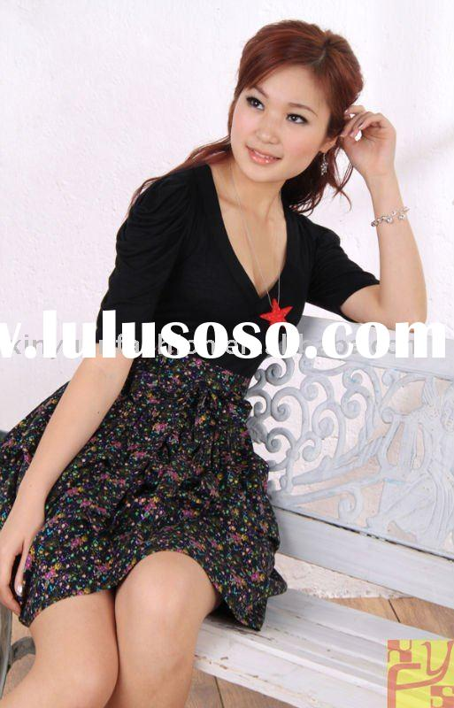 New cheap black shirt fashion dress