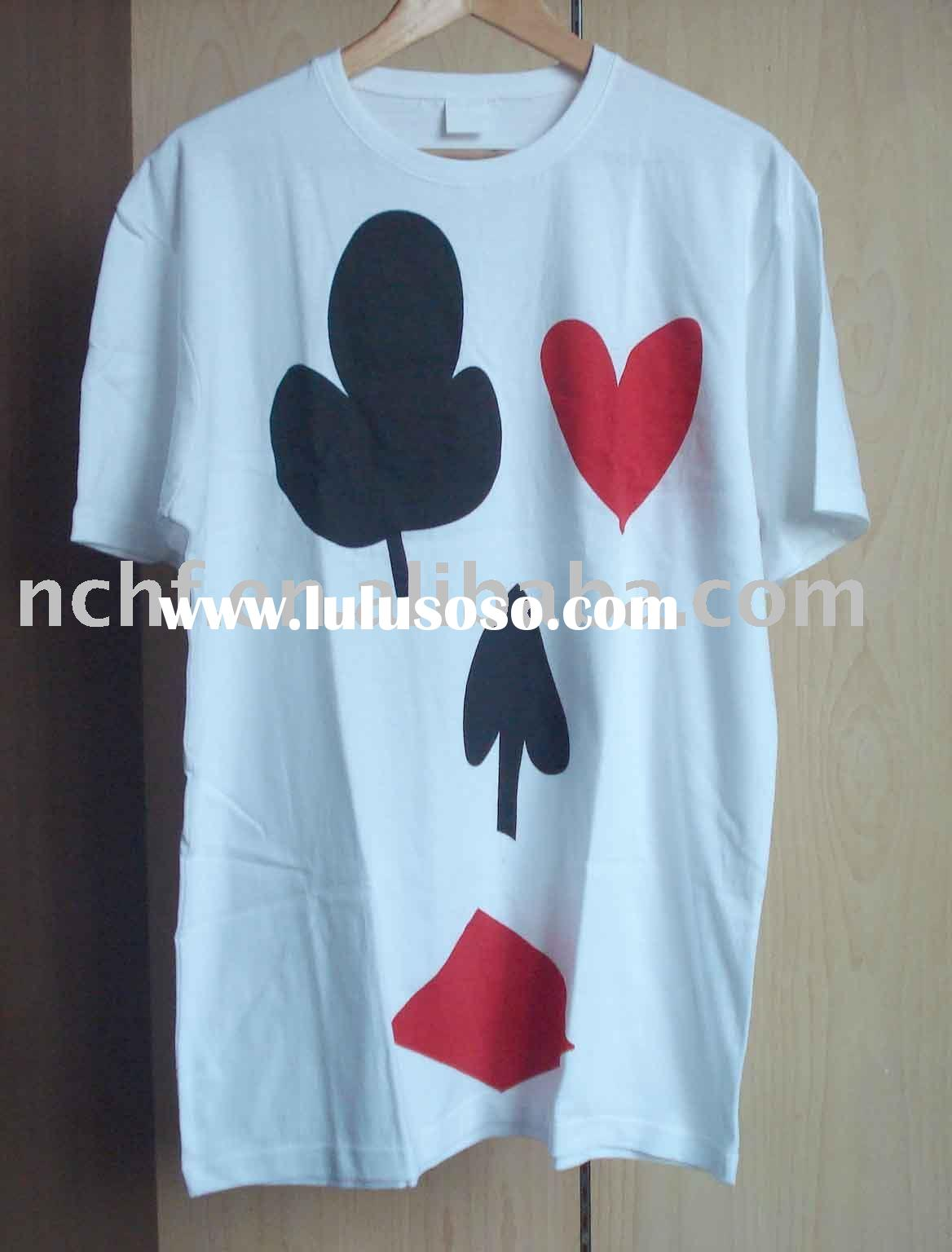 Plus Size Poker Print T-shirt For Man