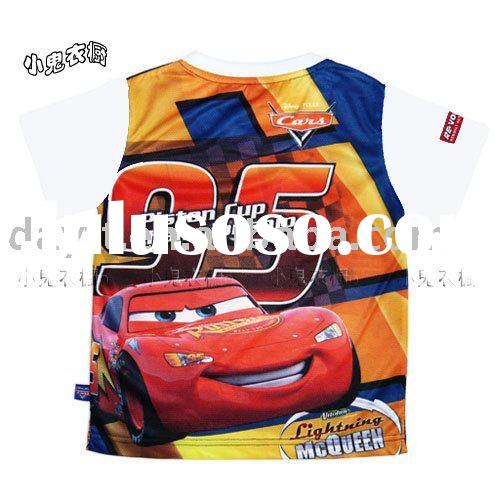 Power seller + 100% cotton thomas car T-shirt  for kids A1035 on sale wholesale & drop shipping