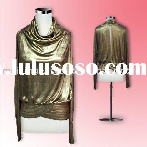 ST0034--A gold jersey formal party dress shirt