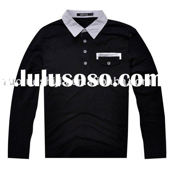 black long sleeve polo shirts