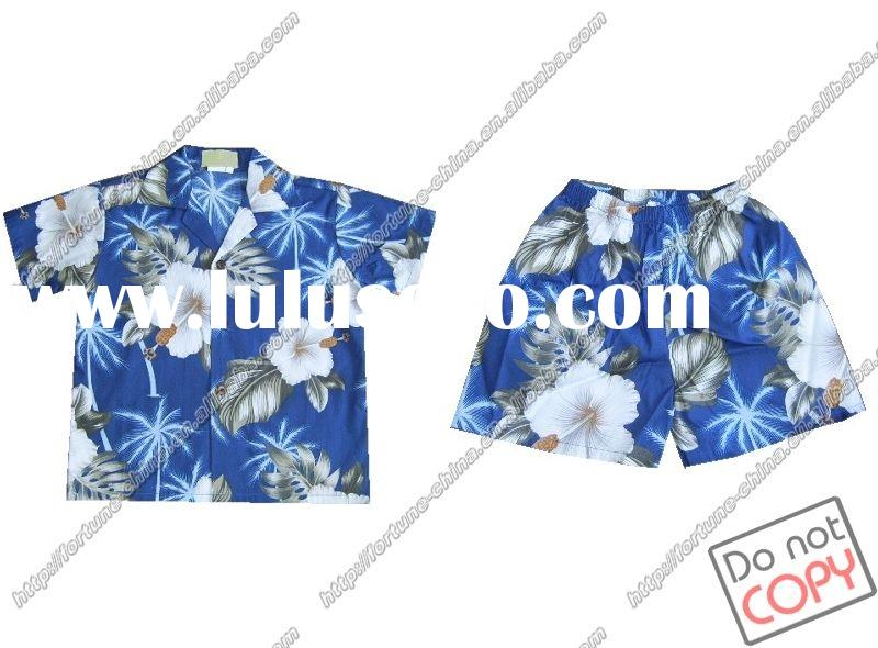 children's shirts/board shorts suits