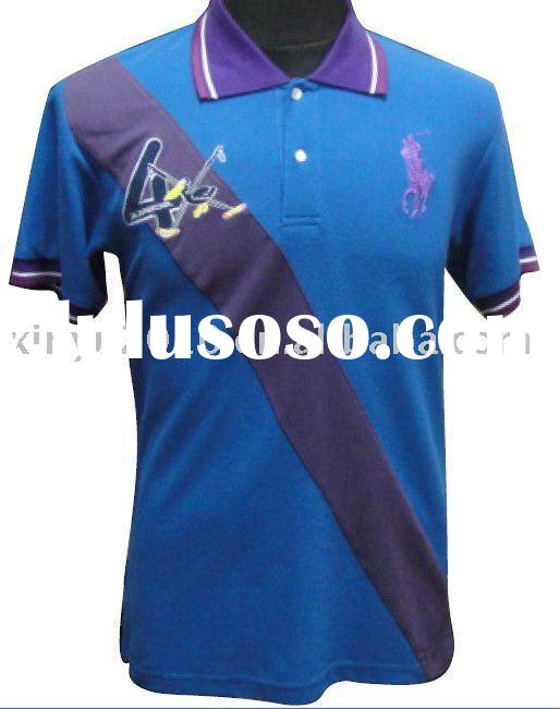 embroidered  polo t-shirt