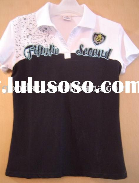 embroidery woman polo shirt YF-9897