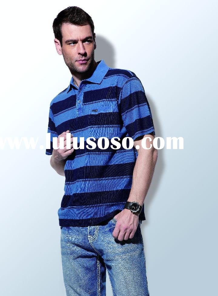 fashion brand leisure polo men's t-shirt